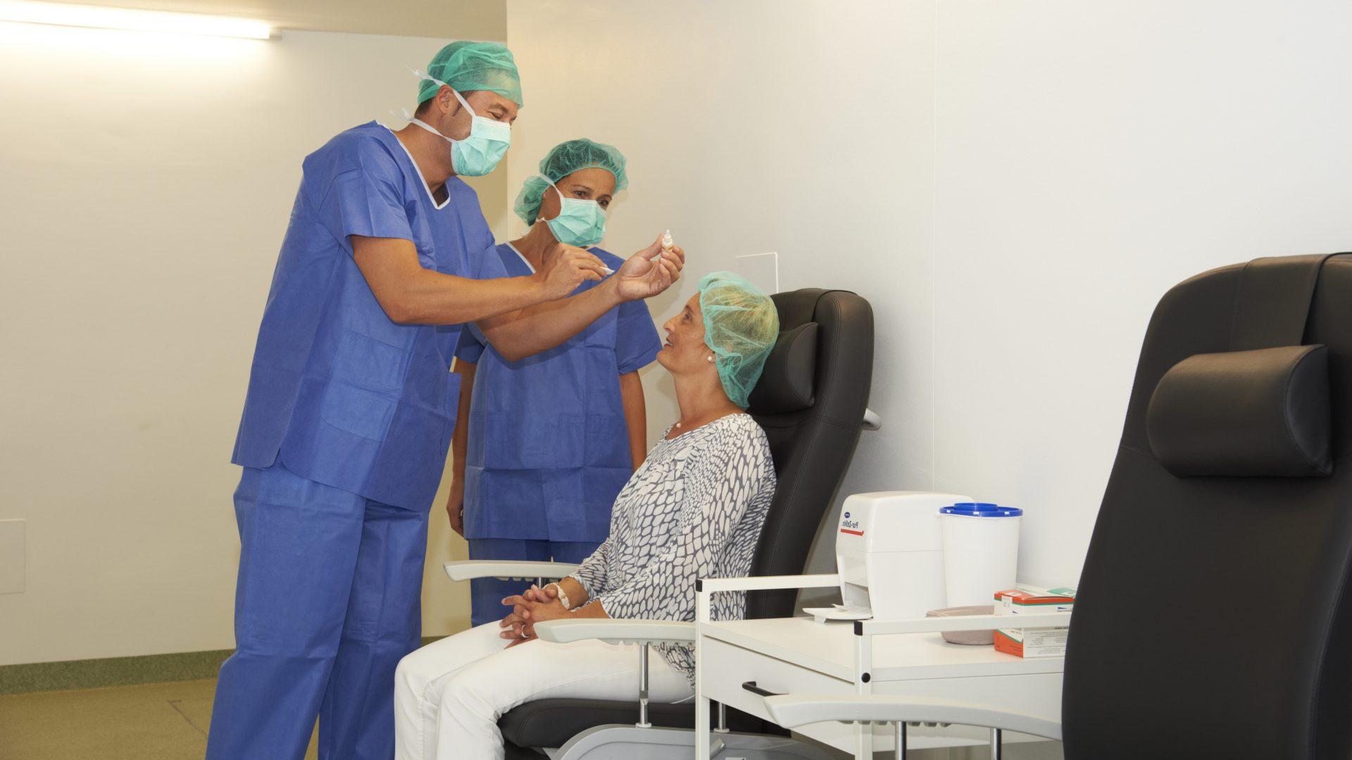OP Vorbereitung im Augenzentrum Güssing